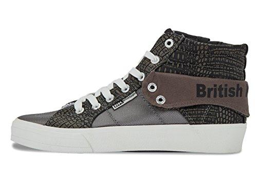 Top High Damen grey Grau British Rigit Knights grey 01 dk 1I4qAw6