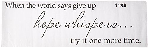 When the world says give up hope whispers... try it one more time Vinyl wall art Inspirational quotes and saying home decor decal sticker (Motivational Wall Sticker Quotes)