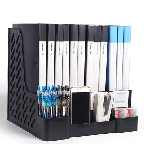 AlterChioce Files Organizer, Desktop Space Saver, 4X Vertical Notebook/Folder Holder + 4X Extra Mini Compartments, Great Office Tools for Teachers, Students and Workers, Hold Your Supplies