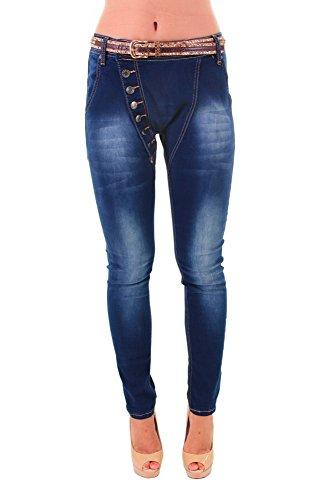 Moderne Jeans mit Waschung BLAU 34 36 38 40 42 Damen Hose