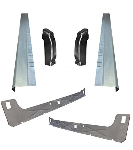 06 Gmc Sierra Ext Cab - Motor City Sheet Metal - Works With 1999-07 Chevy Silverado 4DR EXT Cab Inner & Outer Rocker Panels With Cab Corners