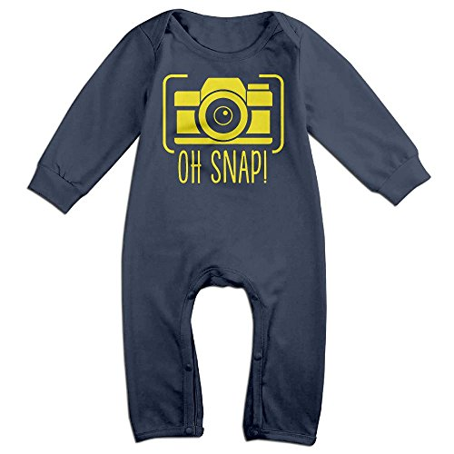 Price comparison product image Oh Snap Camera Boy & Girl Long Sleeve Climbing Clothes Sets Size 24 Months Navy Novelty