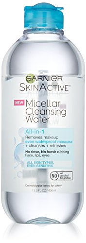 Garnier SkinActive Micellar Cleansing Water All-in-1 Cleanser & Waterproof Makeup Remover, 13.5 floz