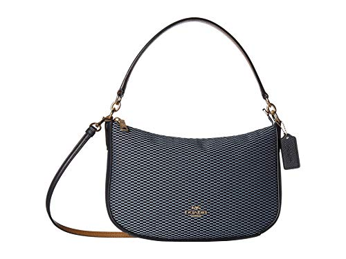 COACH Women's Legacy Jacquard Chelsea Crossbody Gd/Midnight Navy One Size ()