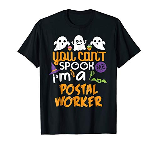 Postal Worker Halloween Costume Party Can't Spook Me T-Shirt