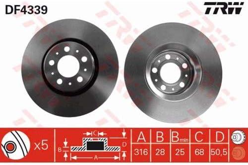 Bremsbel/äge Set Vorne Trw Bremsscheiben /ø316mm