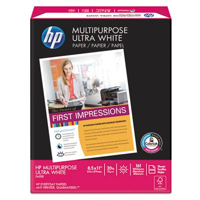 Multipurpose Paper, 96 Brightness, 20 lb, 8 1/2 x 11, White, 500 Sheets/Ream, Sold as 1 Ream