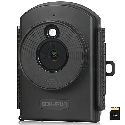 GOWWPUN Time Lapse Camera GTL2000 - Video Camera Camcorder 1080P HDR Sensor,Low Light Full Color Image for Construction,Gifts Idea,City Traffic,Nature,Plant Records