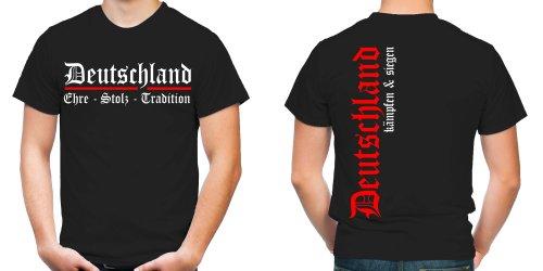 Deutschland EST T-Shirt | Fussball | Ultras | WM 2014 | Weltmeister | BLACK