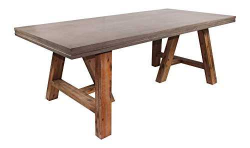 - Limari Home The Elliot Collection Concrete Top Dining Room Table with Acacia Legs, Grey & Natural