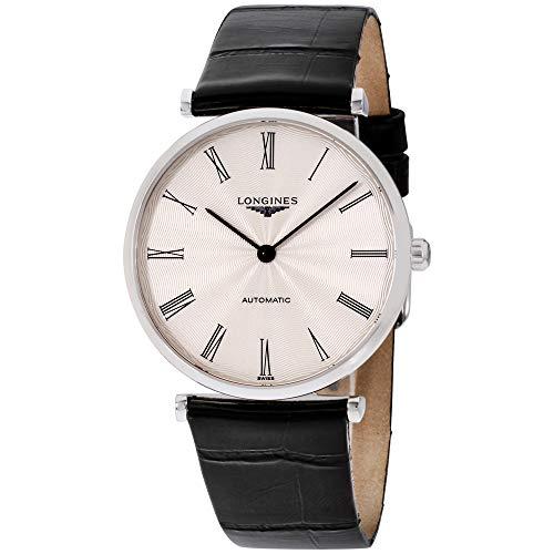 Longines La Grande Classique Silver Dial Leather Strap Men's Watch L49084712 ()