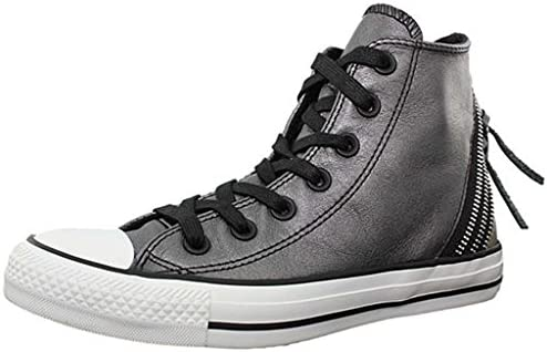 chaussure style converse cuir femme