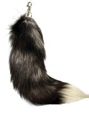 Alpertie Top quality Fluffy Real Fox Fur faux Tail Keychain Tassel Bag Cosplay toy Handbag Accessory hook Pendant