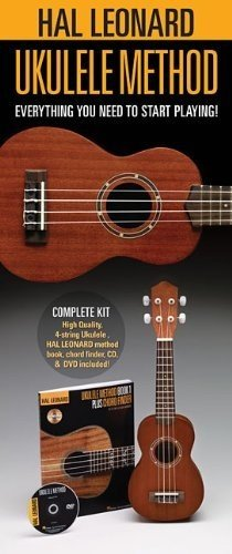 Hal Leonard 650804 Starter Pack with Ukulele, Method Book/online audio and DVD (Uke Cd)