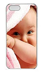 iPhone 5 5S Case Cute Baby Boy PC Custom iPhone 5 5S Case Cover Transparent