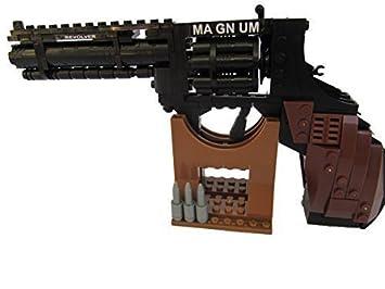 Modelo de Rompecabezas de Lego de Arma Magnum Revolver Pistola Réplica Coleccionable a Escala 1: