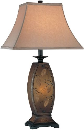 Jaquan Table - Lite Source C41160 Jaquan Table/Night Lamp, Antique Gold Body with Fabric Shade