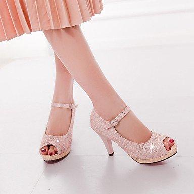 Talones de las mujeres Primavera Verano Otoño Otros Tul Fiesta y Noche del vestido ocasional de tacón de aguja Rosa Púrpura Beige Pink