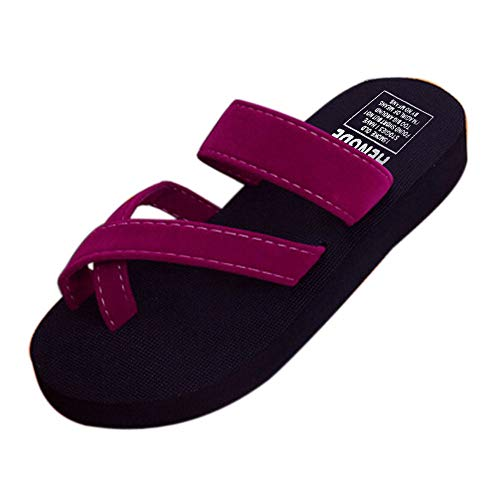 - TOTOD Womens Summer Flip Flops Casual Slippers Flat Sandals Beach Open Toe Shoes Wine