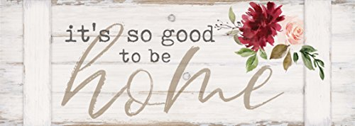 P. Graham Dunn So Good to Be Home Watercolor Floral Whitewash 20 x 7 Inch Pine Wood Pallet Style Wall Plaque Sign]()
