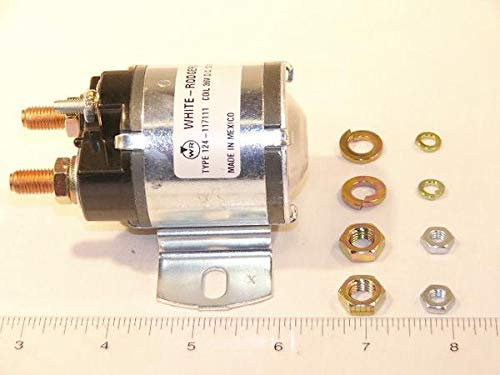 White Rodgers 124-117111 Solenoid, SPNO, 36 VDC Isolated Coil, Continuous Duty, Normally Open Continuous Contact Rating 100 Amps, Inrush 400 Amps by White-Rodgers