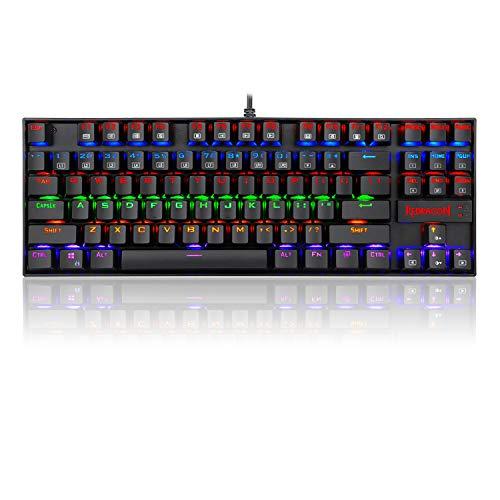 8d141a737d2c8 Redragon K552 Mechanical Gaming Keyboard, RGB Rainbow Backlit, 87 ...