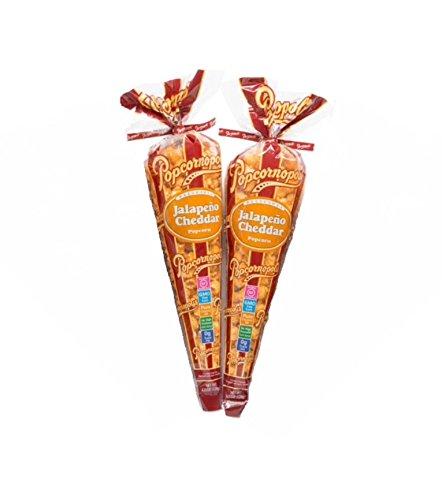 (Popcornopolis Jalapeño Cheddar Popcorn (2 Big Cones)4.5 oz.)