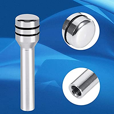 2 Pcs Car Lock Knob, Aluminum Interior Door Lock Knob Pull Pins for Car SUV Truck Automobile (Color : Silver): Automotive