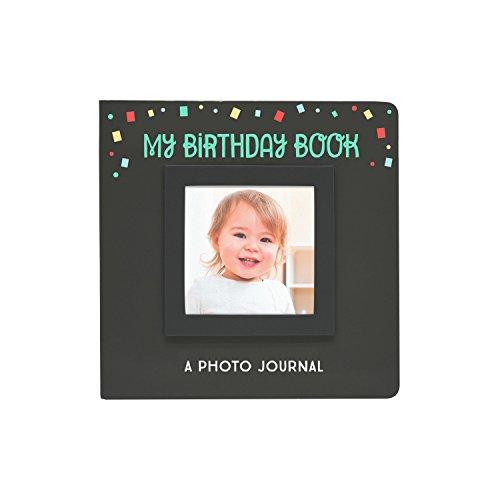 Pearhead My Birthday Photo Book, Keepsake Memory Photo Journal, Black