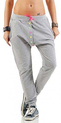 Danaest - Pantalón - harem - Básico - para mujer gris