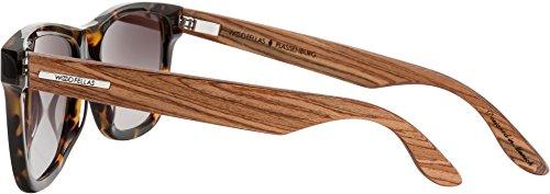 hombre de sol para Talla madera Gafas Wood Fellas única de zebrano CHq4C1w