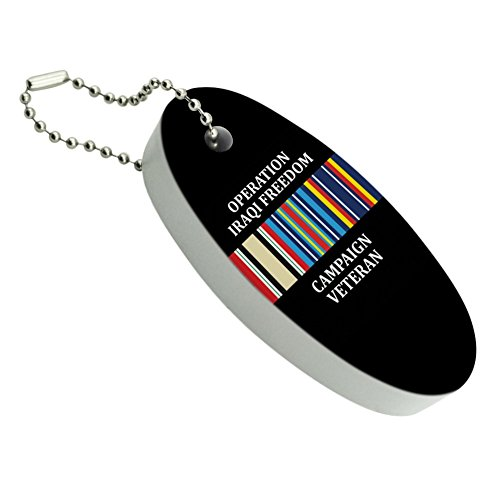 - Graphics and More Marines Operation Iraqi Freedom Campaign Veteran Ribbon OIF Officially Licensed Floating Foam Keychain Fishing Boat Buoy Key Float