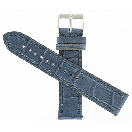 Swiss Army Alliance Chrono Dark Blue Leather 21mm Strap