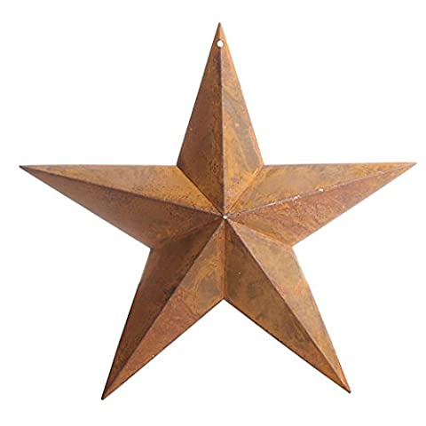 Primitive Rusty Tin Barn Star with Hole At Top for Attaching Wire or for Hanging