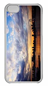 Customized iphone 5C PC Transparent Case - Tokyo City Sunset Personalized Cover