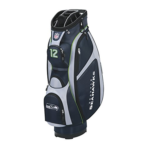 nfl-seattle-seahawks-cart-golf-bag-navy-grey-one-size
