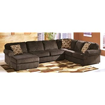 ashley vista 3piece sectional sofa with left