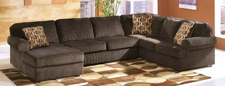 Ashley Vista 68404-16-34-67 3-Piece Sectional Sofa with Left Arm Facing Chaise Armless Loveseat and Right Arm Facing Sofa in