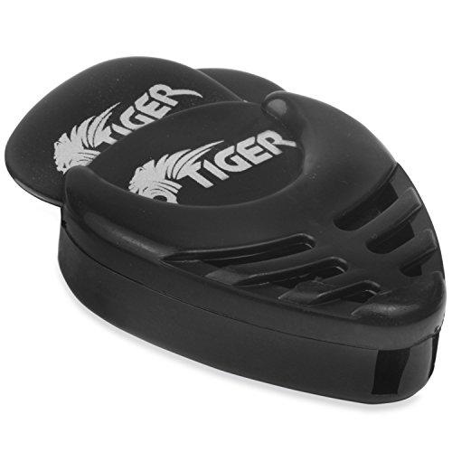 Tiger GAC56-BK 12 Gitarrenplektren mit Halter für Plektren