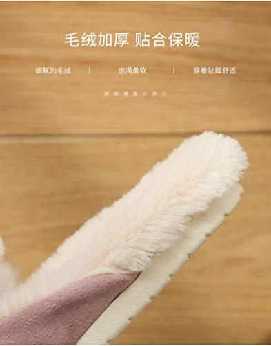 Ropa Invierno Pequeño Rosa Zapatillas Linda Casa Salvaje Para Mujer Tamaño Algodón Xiaogege Tendencia De zqdzOv