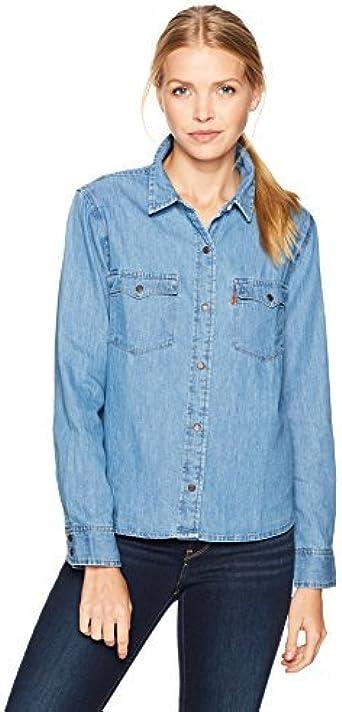 Levis Orange Tab Western - Camiseta para mujer: Amazon.es ...