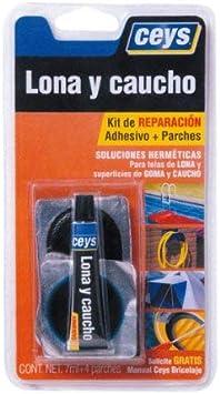 ceys 505017 Adhesivo reparador lona-caucho, Azul, 0