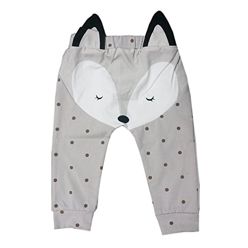 MIOIM Baby Boys Girl Cotton Cute Fox Long Pants Trousers Casual