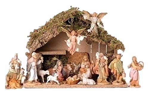 Fontanini 16 Piece Christmas Nativity Set with Italian Stable Figurine 54492 by Fontanini (Image #1)