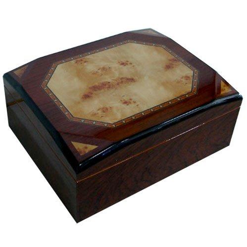 Cuban Crafters Diamond Rosewood Cigar Humidor 50 Count (Humidor Crafters Cuban)
