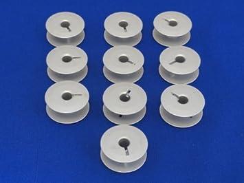 10 de aluminio bobinas compatible con JUKI, ADLER, PFAFF 545, 1245 máquinas industriales: Amazon.es: Hogar