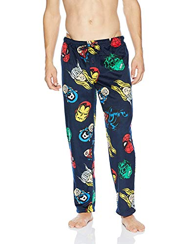 Marvel Men's Avengers Lounge Pants, Hero Blue, L