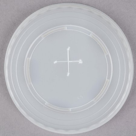 - Dart Solo L9N-0100 9 oz. Translucent Flat Plastic Lid with Straw Slot 100/Pack