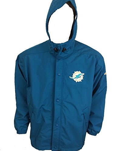 Mens Field Nike Jacket (NIKE Men's On Field Players Miami Dolphins Authentic Sideline Storm Fit Jacket w/Hood Mens Size 3XL)
