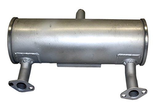 Kohler KO-24 068 128-S Command Twin Muffler, fits 18-25hp Horizontal Shaft engines, exhausts out above shaft Engine Parts